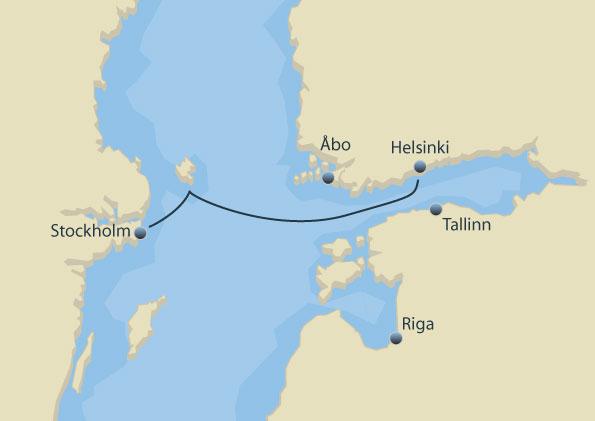 Stockholm Helsinki sejlrute Tallink Silja Line